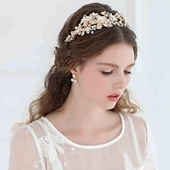 Women's Rhinestone / Alloy Headpiece-Wedding / Casual Headbands / Flowers / Head Chain / Hair Tool 1 PieceSilver / – GBP £ 52.78