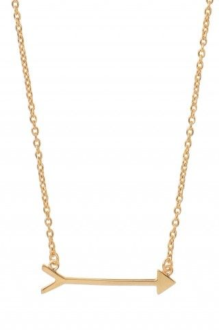 love this cute gold arrow necklace