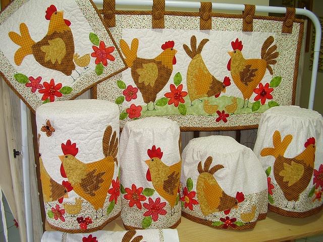 Conjunto de galinhas
