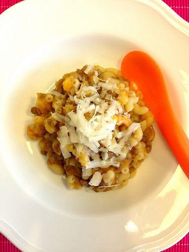 Una streghetta in cucina: Pappe! Maccheroncini con lenticchie e crema di car...