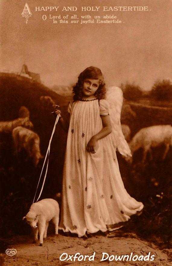 Easter Card Vintage Print Edwardian Postcard by OxfordDownloads https://www.etsy.com/uk/listing/287452141/easter-card-vintage-print-edwardian?utm_source=Pinterest&utm_medium=PageTools&utm_campaign=Share