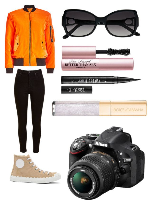 """Béla"" by olahtory on Polyvore featuring Moschino, Lee, Chloé, La Perla, Nikon, Too Faced Cosmetics and Dolce&Gabbana"