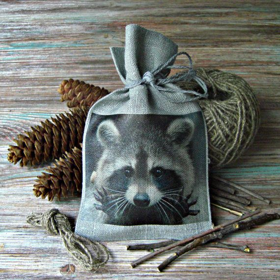 Linen Gift Bag Gray Handmade Bags  Favor by BoutiqueSweetFloret