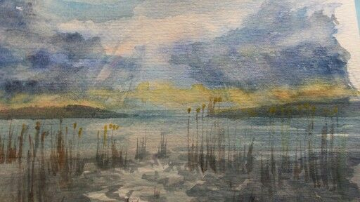 Balaton,akvarell
