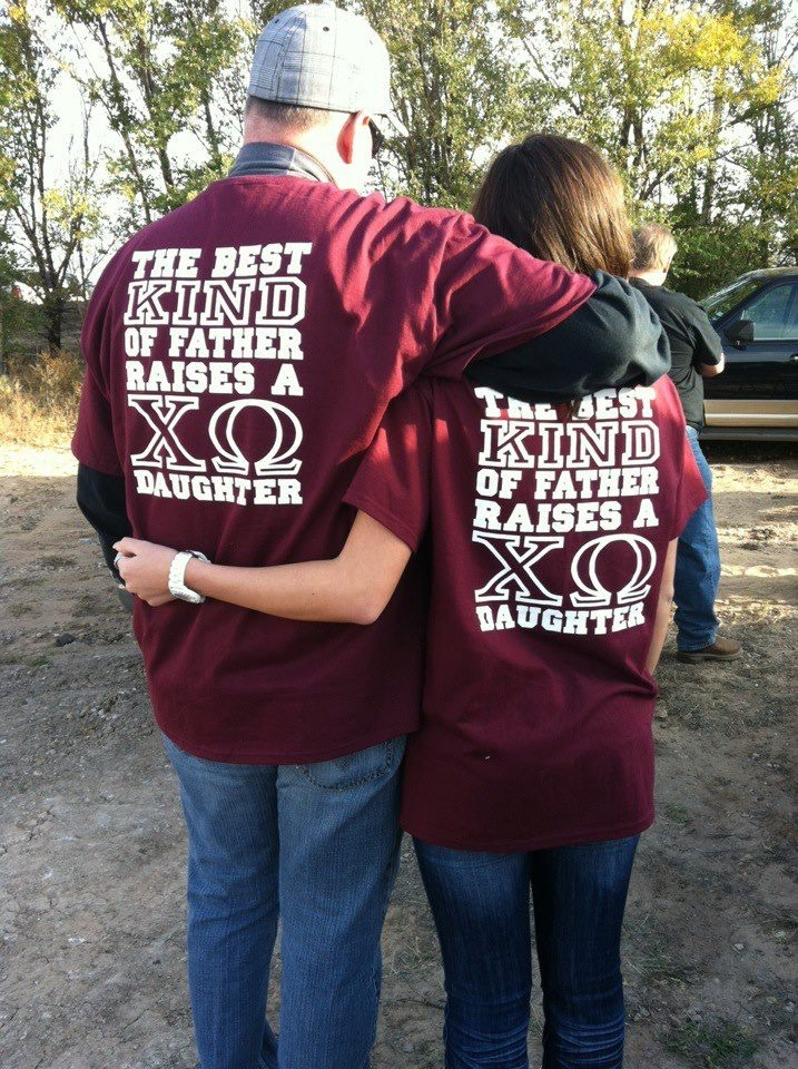 Chi Omega father-daughter shirts