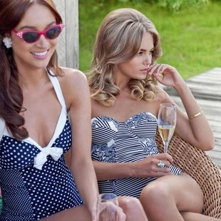 Classic: Polka Dots, Hair Colors, Swimsuits, Cars Girls, One Pieces, Lighthouses Contrast, Bath Suits, Bath Beautiful, Swim Suits