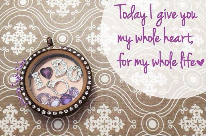 """Tell him """"I DO!"""" with this Origami Owl® locket design!   Contact me today to book your party: amberskeansOO@gmail.com or Like me on Facebook: https://www.facebook.com/OrigamiOwlAmberSkeansIndependentDesigner.origamiowl  You can also shop online: www.amberskeans.origamiowl.com"""