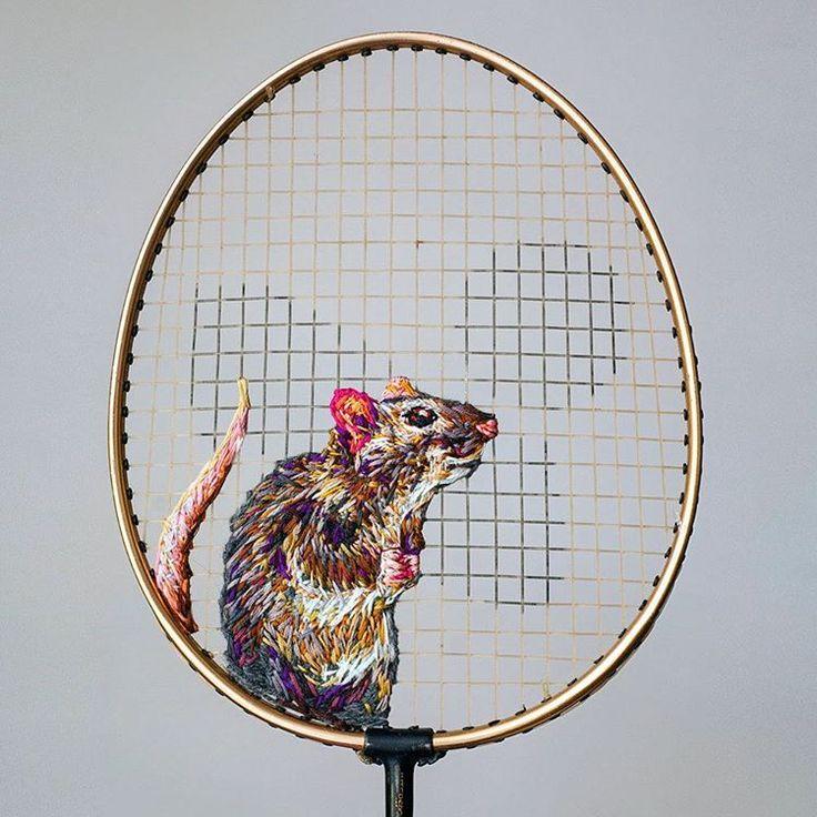 テニスラケットに刺繍!?意外な組み合わせが、めちゃ素敵! | TABI LABO