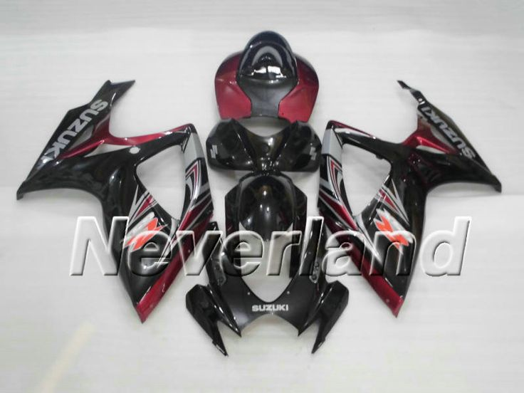 SUZUKI GSX-R 600/750 2006-2007 K6 ABS Fairing - Pearl Red/Black  #2007SUZUKIgsxr750fairings #2006SUZUKIgsxr600fairings
