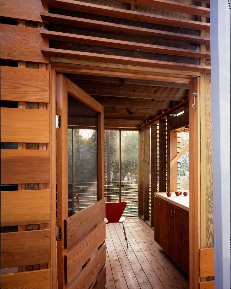 A Modern Porch In A Quiet Suburban Maryland Neighborhood Provides Seasonal  Shelter For This Family. Pocket ScrewsWooden Summer HouseSummer ...