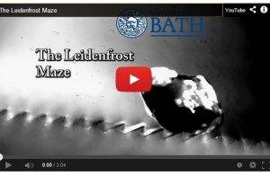 The Leidenfrost (Effect) Maze [Video]