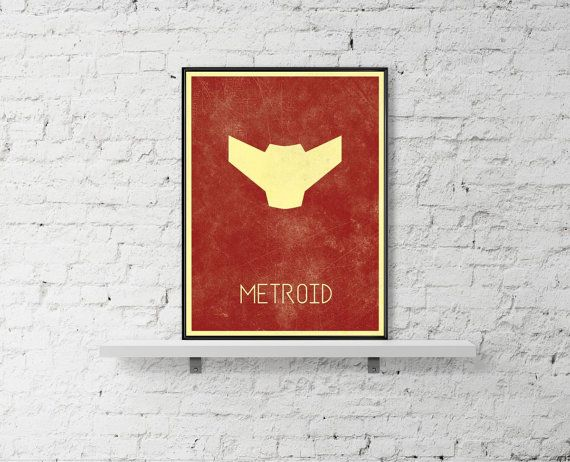 METROID Minimal Poster Samus Inspired Art Poster by BaydleCreative