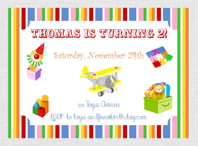 Printable Toys Party Package at our Etsy shop http://www.etsy.com/shop/BistrotChic