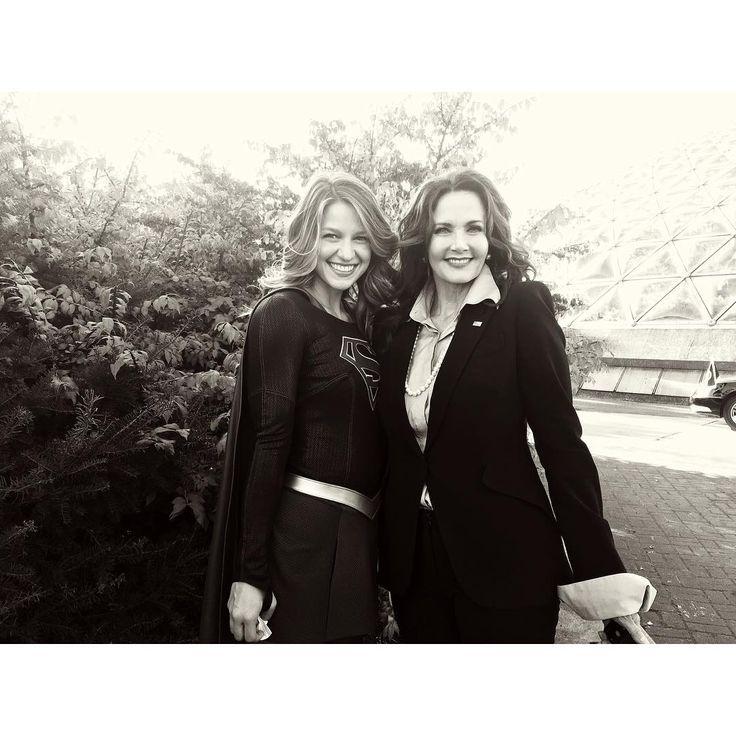 Melissa Benoist and Lynda Carter | Supergirl | Wonder Woman