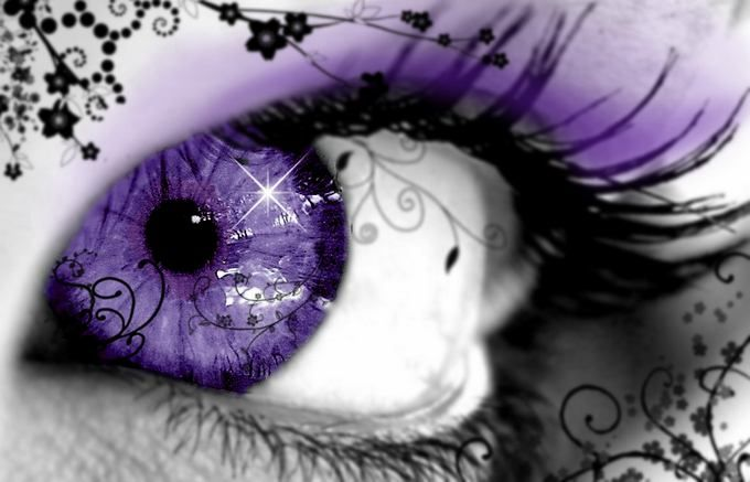 Sometimes I wish I had purple eyes..., especially if they had swirly ethereal patterns in them too...
