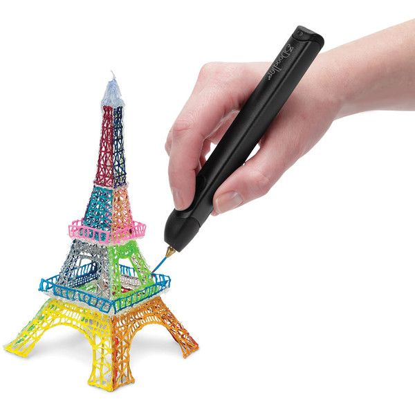 The 3D Printing Pen - Hammacher Schlemmer ($100) ❤ liked on Polyvore featuring home, home decor and office accessories