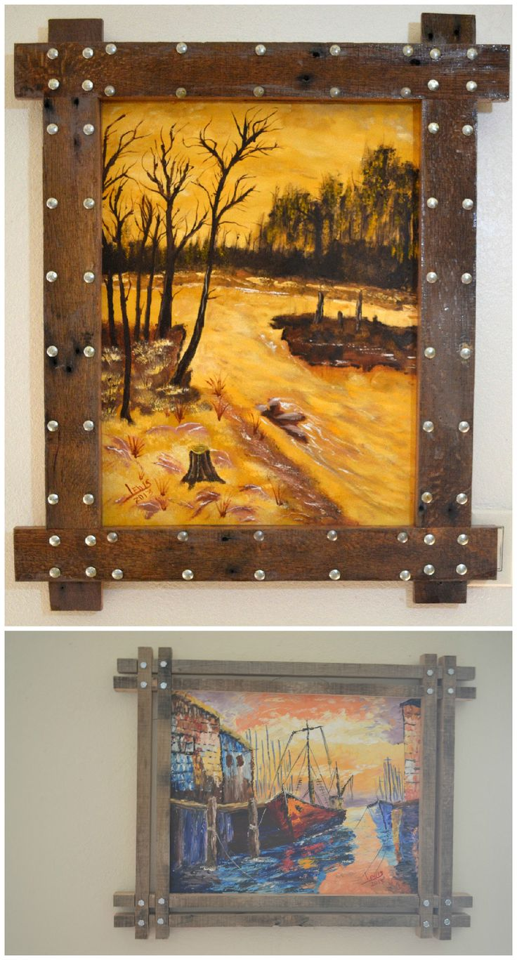 My Uses of Pallets: Unique Picture frames #Art, #PalletFrame, #RecycledPallet
