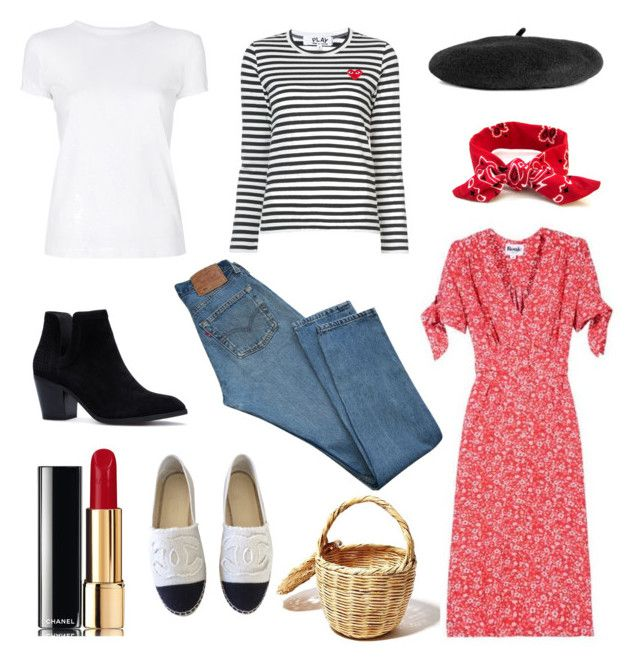 """""""French summer/spring"""" by stinasolheim on Polyvore featuring Helmut Lang, Play Comme des Garçons, Levi's and Chanel"""