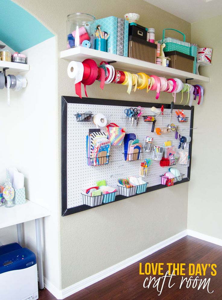 Craft Room Organization Ideas by Love The Day #MichaelsMakers