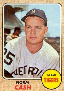 1968 Topps Norm Cash #256 Baseball Card