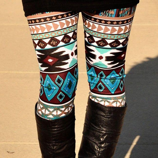 Jade Aztec leggings #aztec #leggings #print
