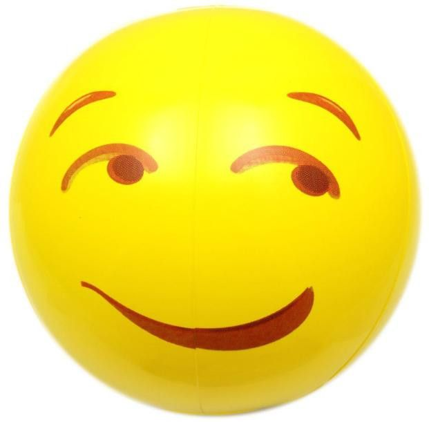 12pc Emoji Universe 12 inch Emoji Inflatable Beach Balls