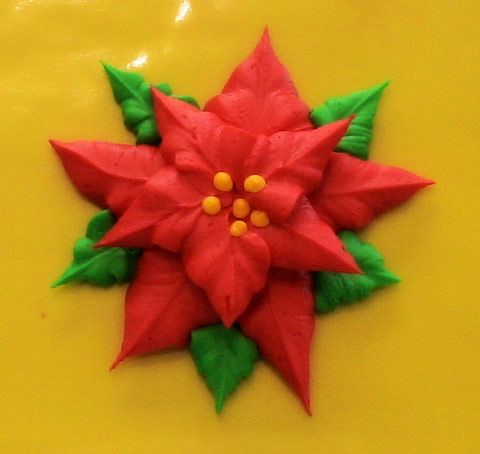 poinsetta icing flower for christmas cookies
