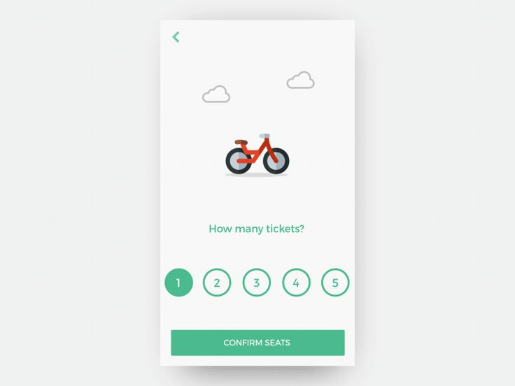 Choosing number of seats for a movie reservation. We select the number of seats and get an animated view of mode of transport used to get to the theatre.  Inspired by bookmyshow which has an intere...