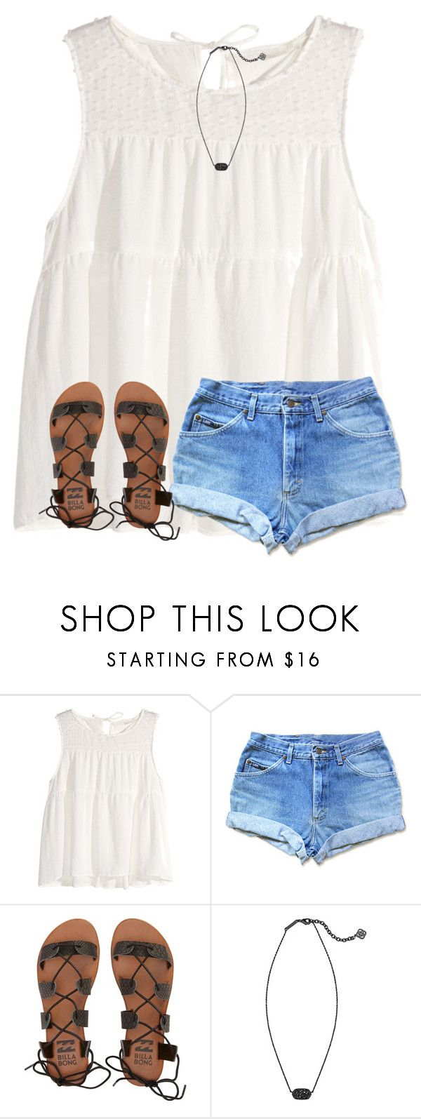 """in love with Jordan Spieth"" by ponyboysgirlfriend ❤ liked on Polyvore featuring H&M, Billabong and Kendra Scott"