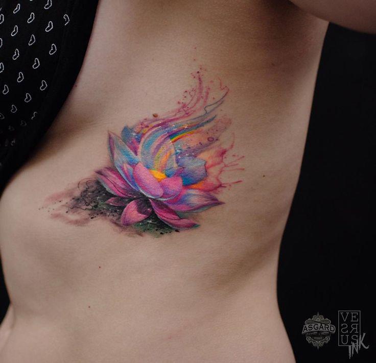 Watercolor Lotus Flower