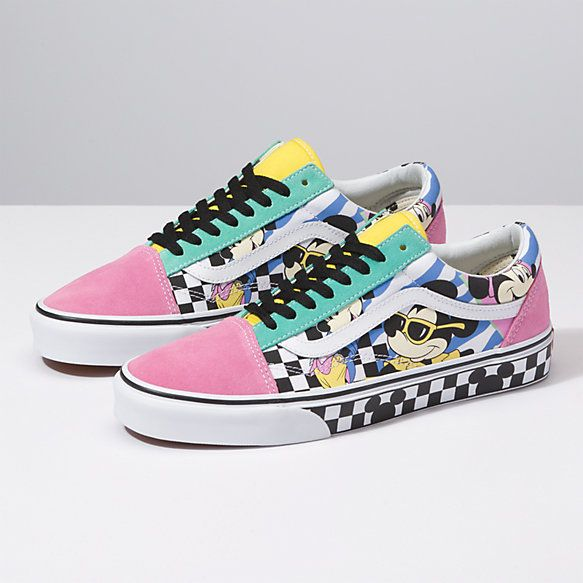 Disney x Vans Old Skool | Custom vans shoes, Cute vans