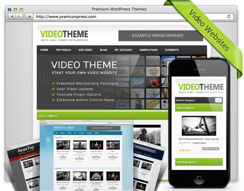 PremiumPress has created a responsive video theme that has every feature for customization, ease of use and revenue that you could dream of and it is set up in minutes!