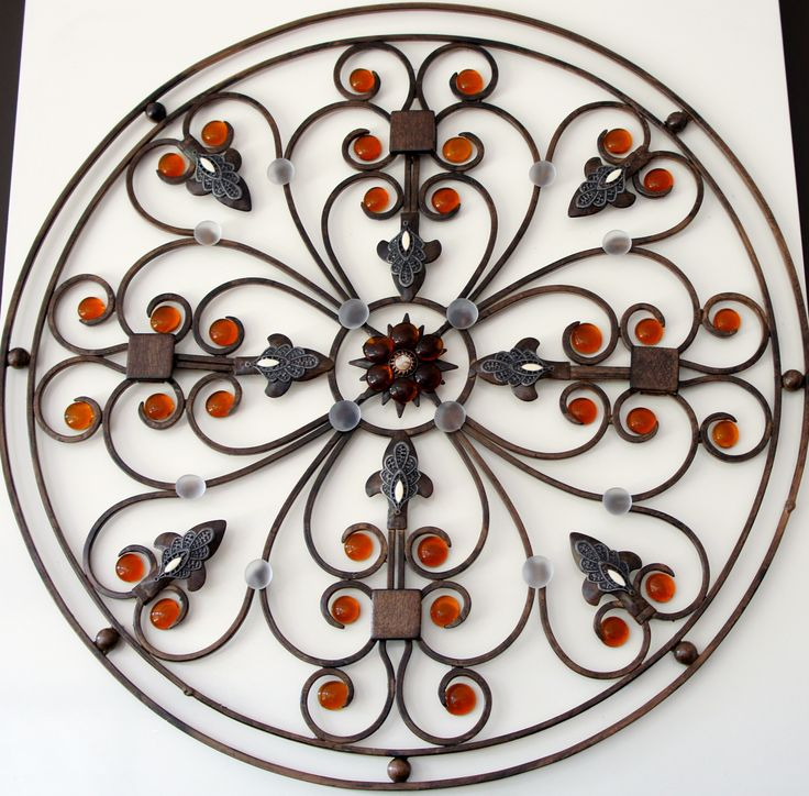Hand made wall decoration, using recycled materials