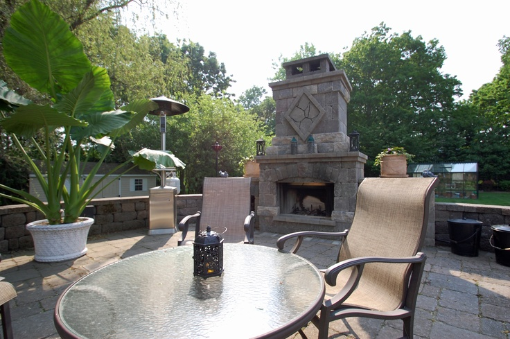 BDL Installed Outdoor Fireplace