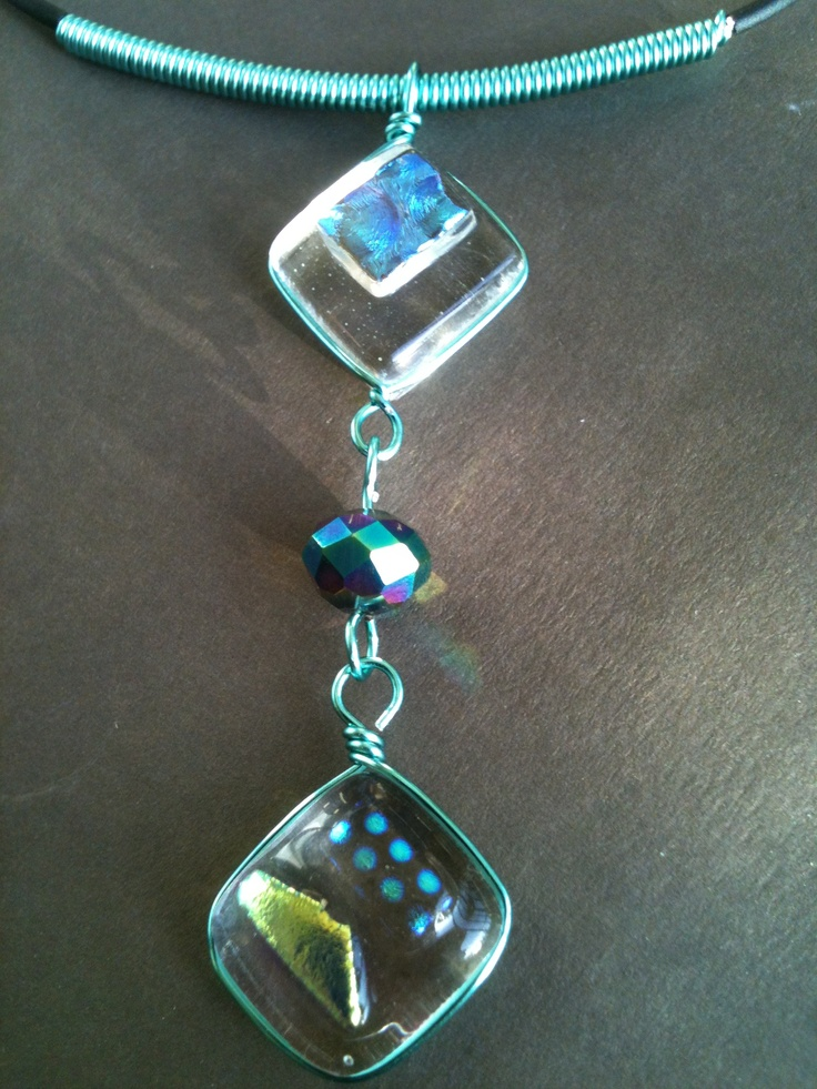 wire wrap & fused glass: Fused, Ceramic Ideas, Fuesd, Glass, Jewelry, Cirillo Creations, Craft Ideas