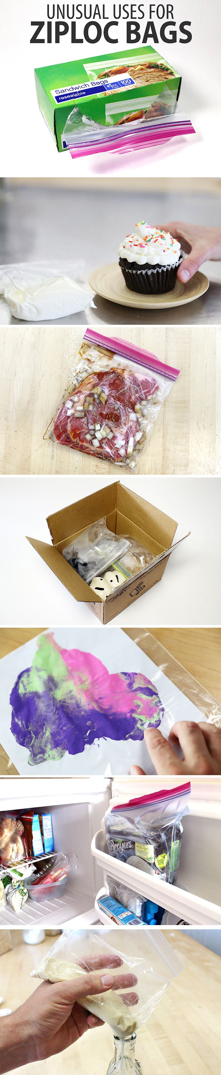 Resealable plastic bags are so useful at keeping things securely sorted. Though the organizational uses for this plastic pouched wonder are abundant, there's quite a few unusual uses for Ziploc bags that might surprise you.