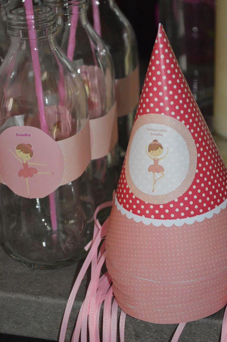 birthday hat and juice bottle!