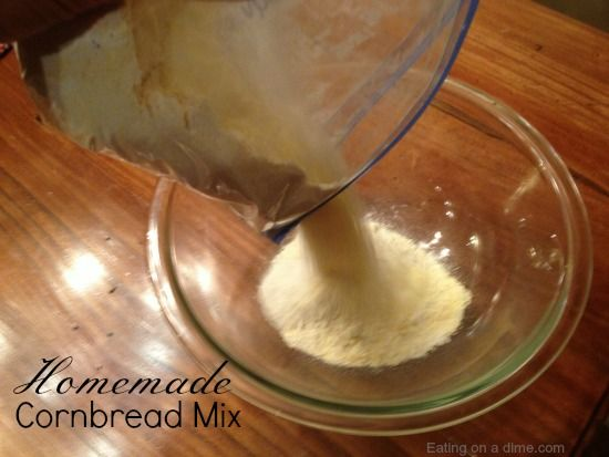 See how to make homemade cornbread mix. It is so easy to make and will save you 50% or more than store bought. Plus this cornbread tastes better too.