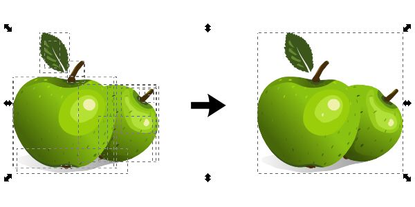Quick Tip: Group/Ungroup vs. Combine/Break Apart in Inkscape