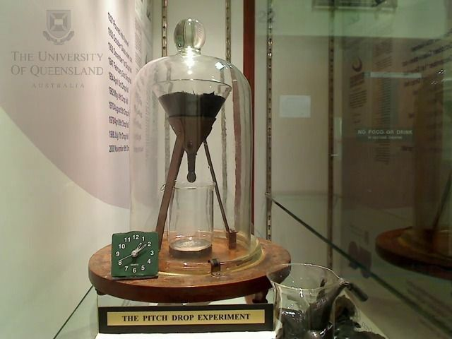 Pitch Drop Experiment - 9 drops since 1930