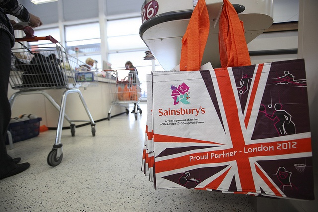 Olympic Bags by J Sainsbury, via Flickr