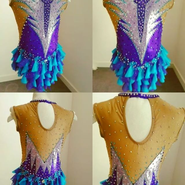 Time to reveal the completed Rhythmic Gymnastics leotard ready for our customer, designed to match her ball and make her shine like a diamond 💎💎💎 #gymnastics #gymnast #dance #leotard #customized #rg #dancer #custommade #rhythmicgymnastics #flips #flexible #tumbling #artisticgymnastics #scrunchie #acro #rhythmicgymnastics #rhinestones #sparklyleotard #swarovski #swarovskicrystals #apparatus #coordinate #matchcolours #swirls #swirlyskirt #frillyskirt