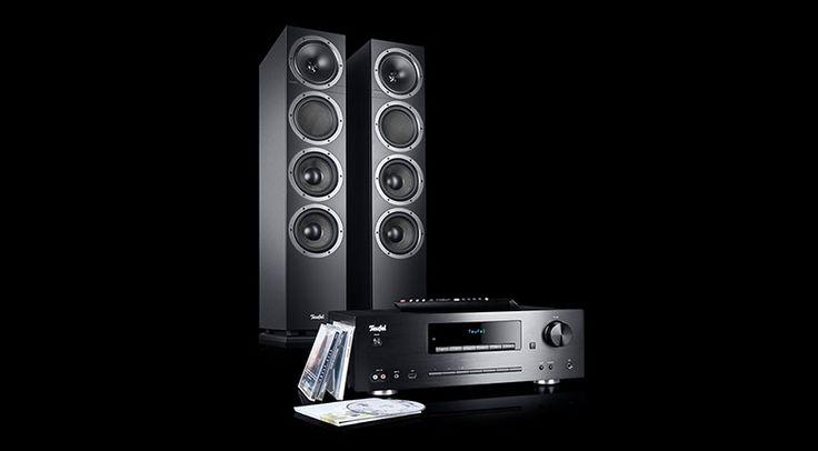 Ein Paar mächtige Speaker in Form der Teufel T 500 F 16, gepaart mit dem Teufel CD Receiver KB 62 CR, so präsentiert sich das neue Teufel Kombo 500.
