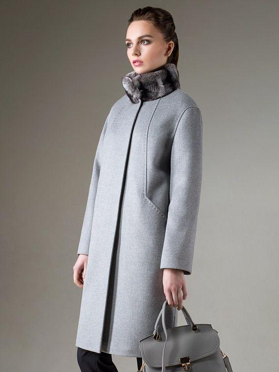 Пальто женское демисезонное цвет сливочный, Пальтовая ткань, артикул 1015182p60108