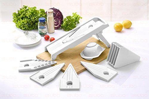 Traditional Mandoline Slicer - Vegetable Slicer - Food Slicer - Vegetable Cutter - Cheese Slicer - Vegetable Julienne Slicer with Surgical Grade Stainless Steel Blades (White)
