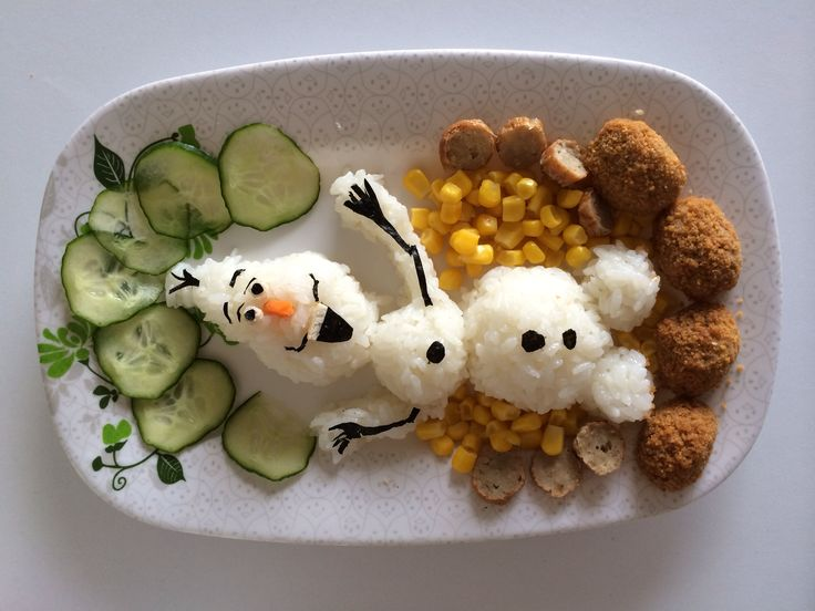 Olaf sushi rice for lunch