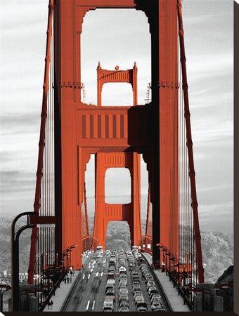 Golden Gate Bridge-San Francisco Stretched Canvas Print at AllPosters.com