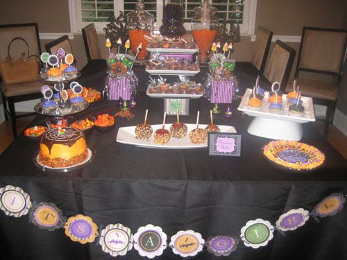 halloween themed baby shower dessert table jamies shower pinterest