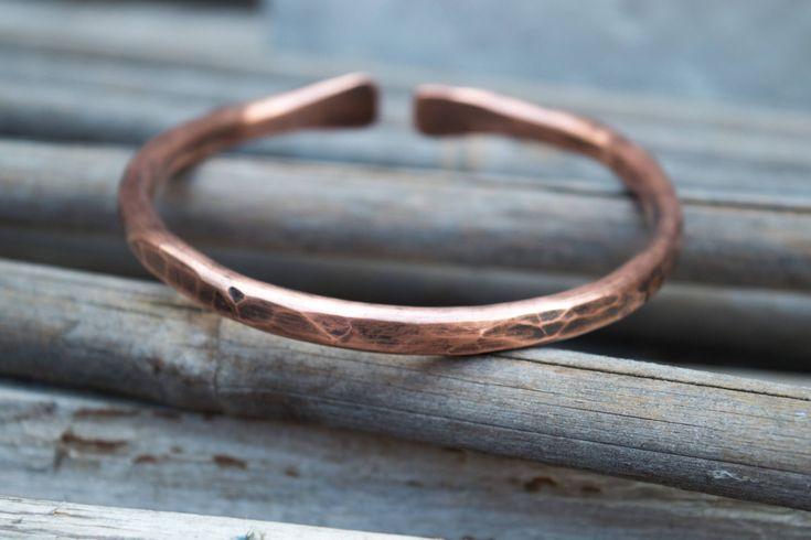 Mens copper bracelet, Mens copper cuff bracelet, Rustic mens bracelet,Mens gift, Copper jewelry,Arthritis jewelry, Adjustable cuff, Handmade