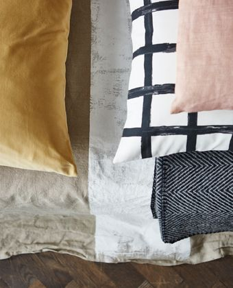 We think using painting graphic patterns on raw fabrics and materials will be a big upcoming style trend.